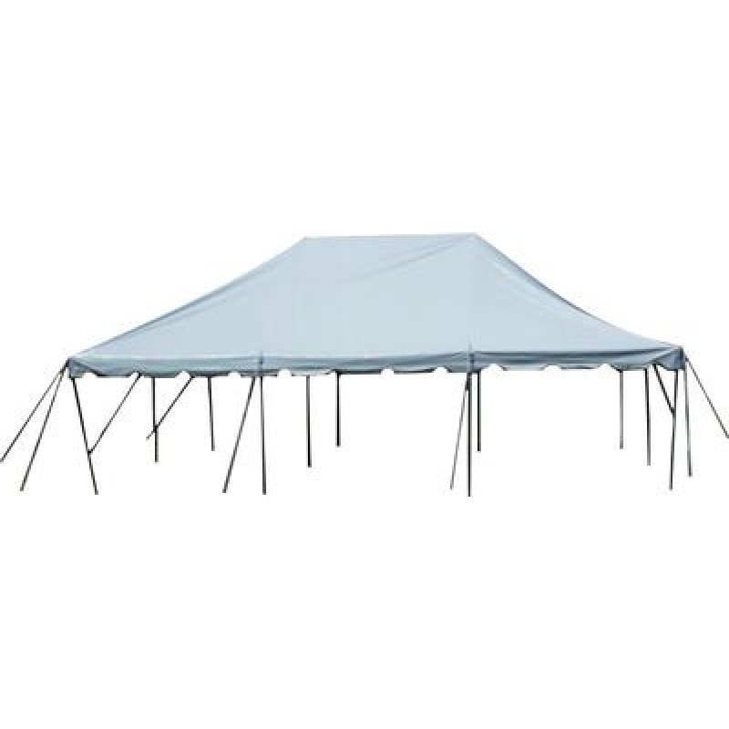 20' x 30' White Pole Tent-Installed