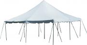 20' x 20' White Pole Tent-Installed