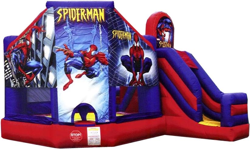SpiderMan Bouncer Slide Combo
