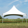 20' x 20' High Peak Frame Tent-Installed