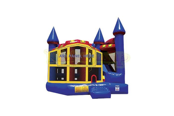 5-in-1 Bounce House Slide Combo