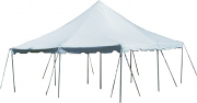 20' x 20' White Pole Tent-Installed