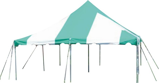 20' x 20' Green/White Pole Tent